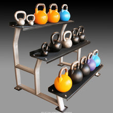 Load image into Gallery viewer, 3 Tier Kettlebell Rack