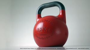 32 kg - 70 lb 33mm Handle Diameter Paradigm Pro® Elite Steel Competition Sport Kettlebell - Free Shipping