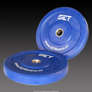 SET™ Fitness Colored Olympic Bumper Plate