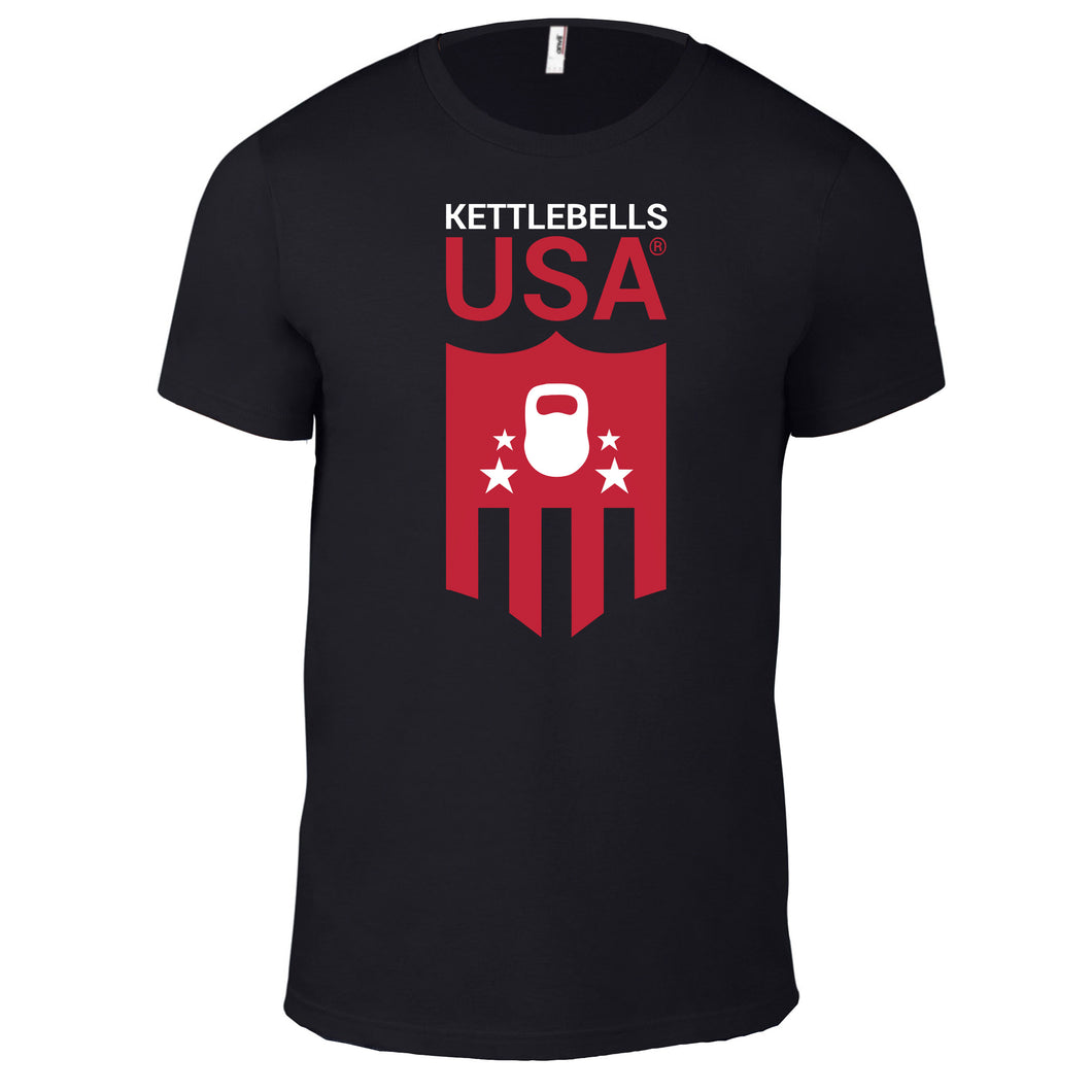 Kettlebells USA® 100% Black Cotton T-Shirt