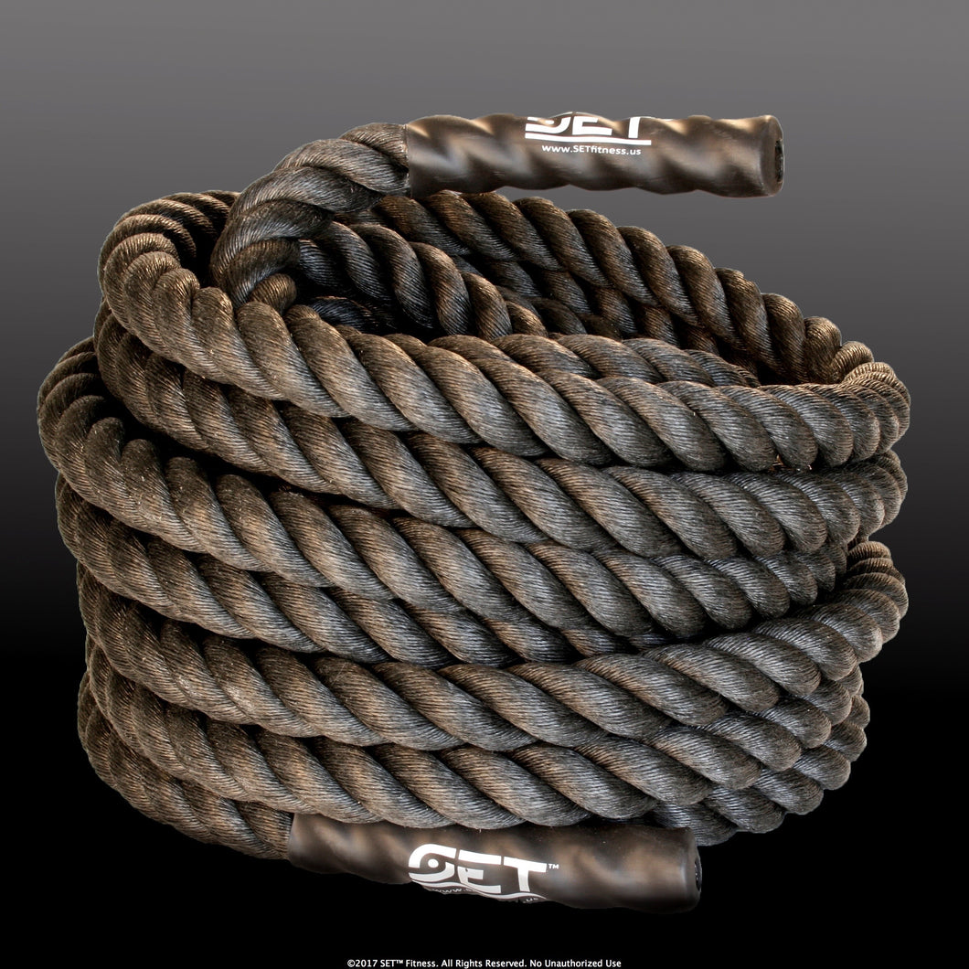 SET™ Fitness Polypropylene Battle Core Rope with Cased Ends