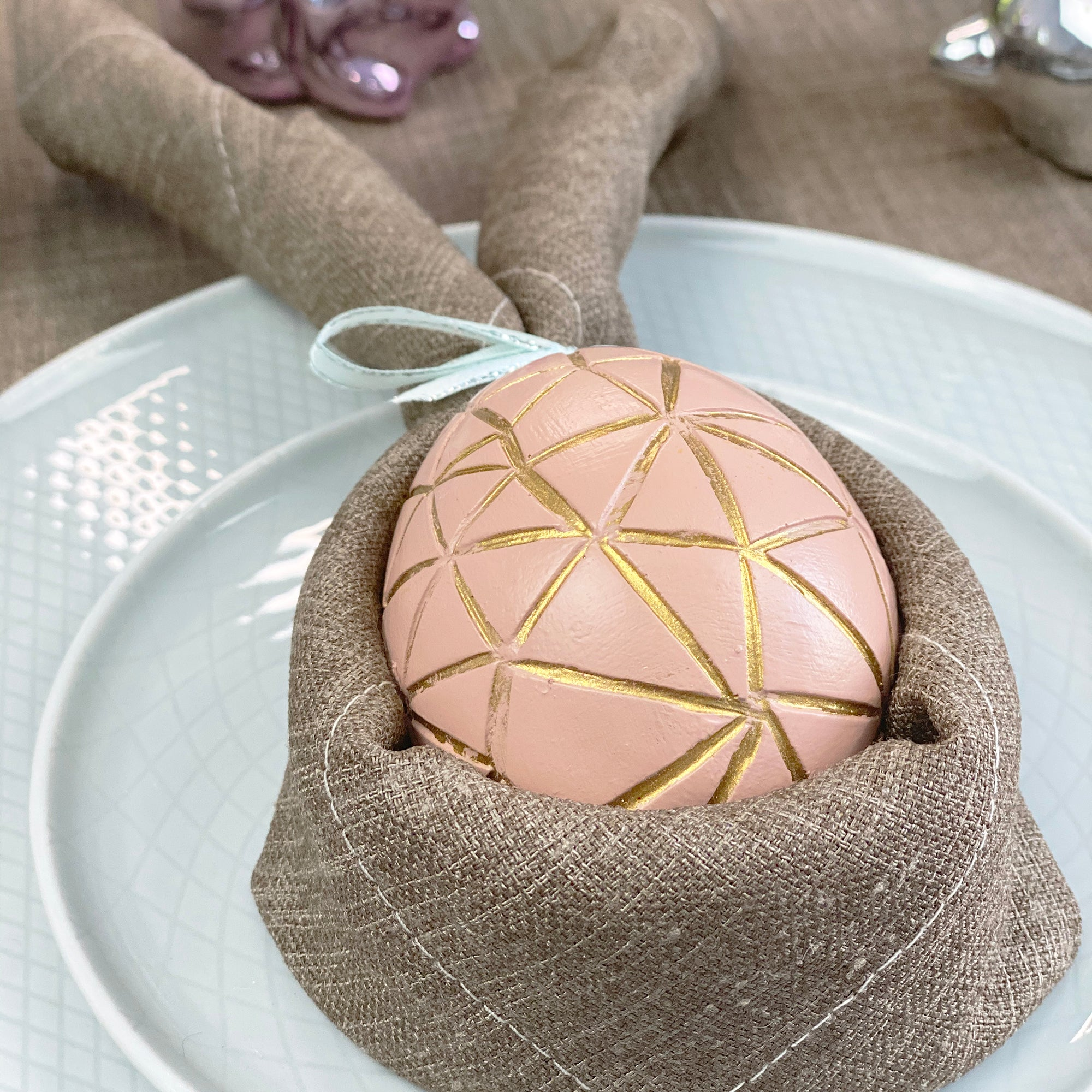 Cutest DIY Easter Bunny Napkin Fold