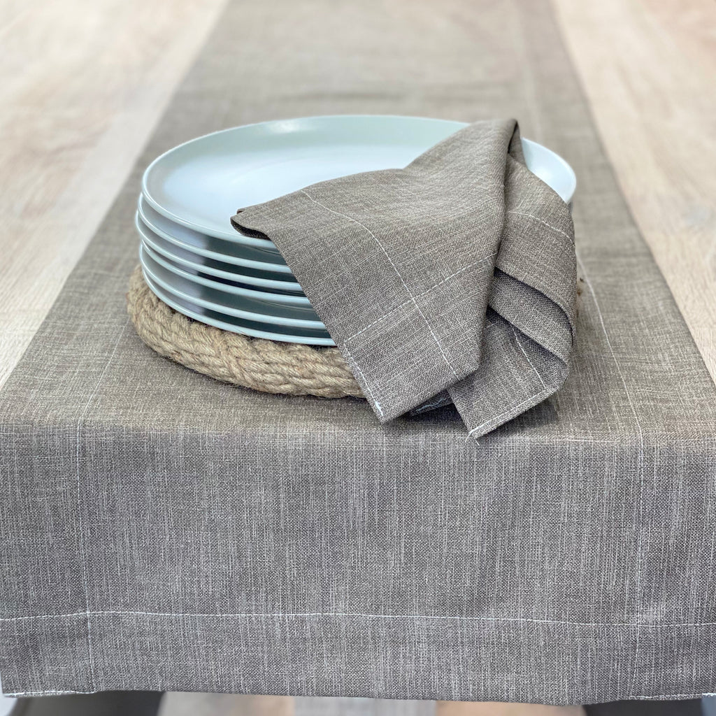 BOHO Table Runner + 6 Napkin Set