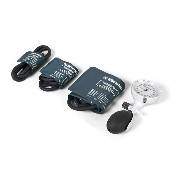 Riester E-Mega 1-Tube Sphygmomanometer Set With 3 Disinfectable One-Piece Cuffs
