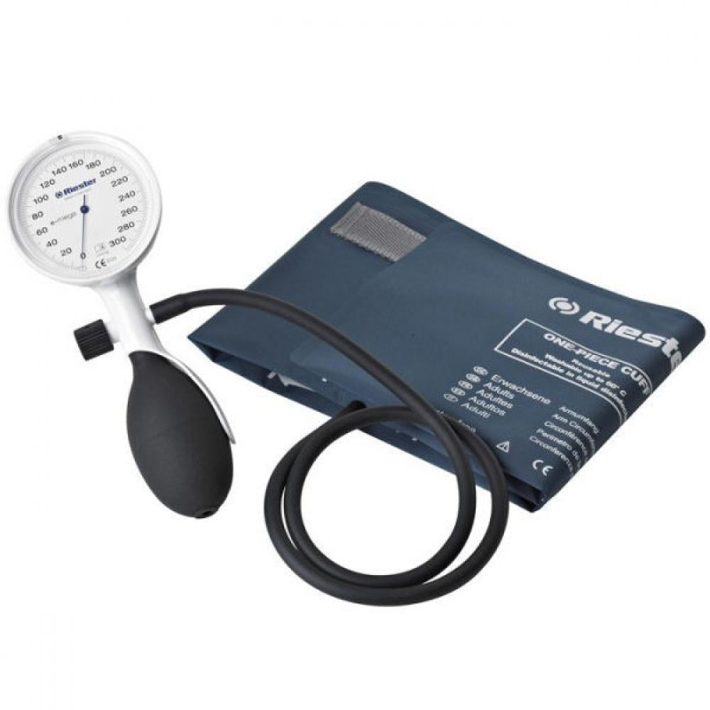 Riester E-Mega 1-Tube Sphygmomanometer Set With Disinfectable One-Piece Cuff