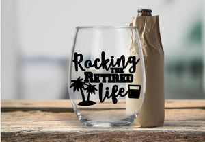 Retirement Designs Wine Glasses