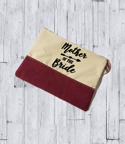 Faux Suede Cosmetic Bags - Mother of the Bride - thegiftkornershop