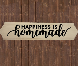 Home Wood Sign Wall Decor - Happiness is Homemade - thegiftkornershop