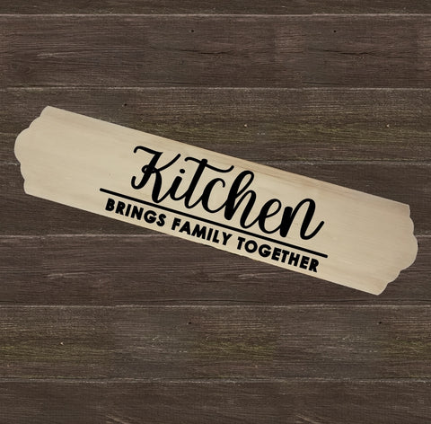 Home Wood Sign Wall Decor - Kitchen Brings Family Together - thegiftkornershop