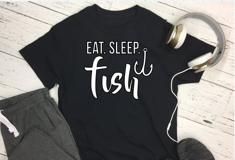 T-Shirt - Eat Sleep Fish - thegiftkornershop