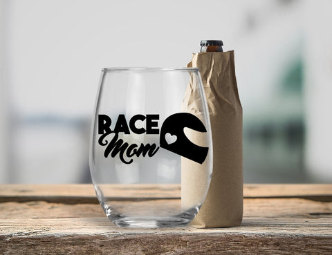 Stemless Wine Glass - Race Mom - thegiftkornershop