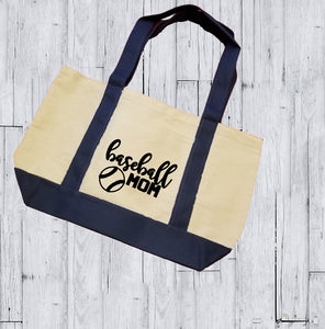 Canvas Tote Bag - Baseball Mom - thegiftkornershop