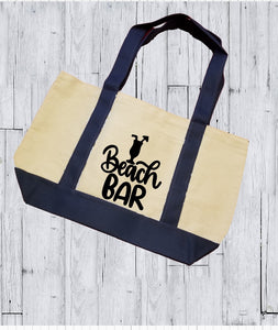 Canvas Tote Bag - Beach Bar - thegiftkornershop
