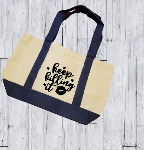 Canvas Tote Bag - Keep Killing It - thegiftkornershop