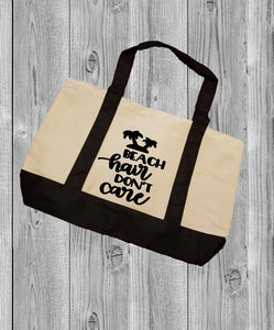 Canvas Tote Bag - Beach Hair Don't Care - thegiftkornershop