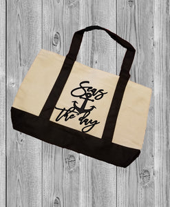 Canvas Tote Bag - Seas The Day - thegiftkornershop
