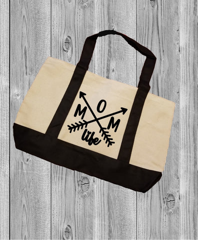 Canvas Tote Bag - Mom Life - thegiftkornershop