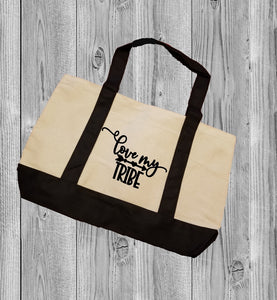 Canvas Tote Bag - Love My Tribe - thegiftkornershop