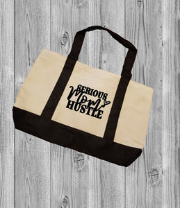 Canvas Tote Bag - Serious Mom Hustle - thegiftkornershop