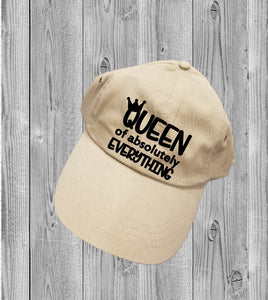 Low-Profile Hat - Queen Of Absolutely Everything - thegiftkornershop