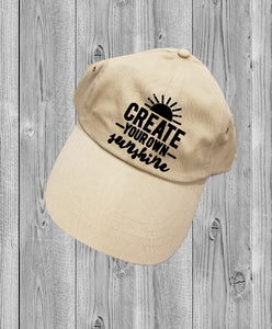Low-Profile Hat - Create Your Own Sunshine - thegiftkornershop