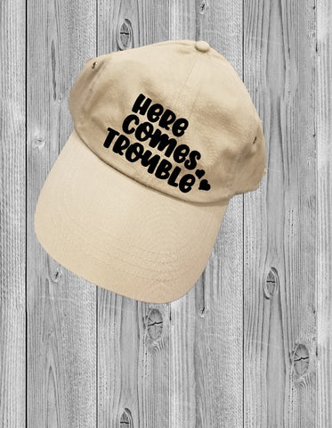 Low-Profile Hat - Here Comes Trouble - thegiftkornershop