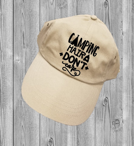 Low-Profile Hat - Camping Hair Don't Care - thegiftkornershop