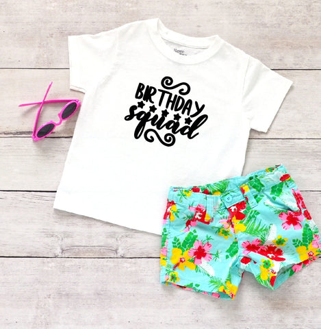Toddler Softstyle Tee - Birthday Squad - thegiftkornershop