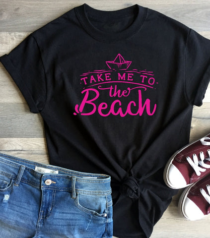 T-Shirt - Take Me To The Beach - thegiftkornershop