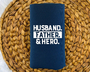 Insulated Can Holder - Husband Father Hero - thegiftkornershop