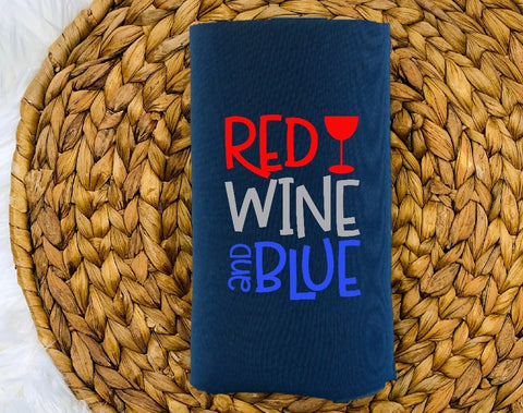 Insulated Can Holder (Koozie) - Red White & Blue - thegiftkornershop