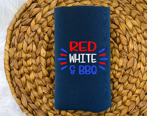 Insulated Can Holder (Koozie) - Red White & BBQ - thegiftkornershop