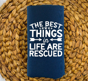 Insulated Can Holder - The Best Things In Life Are Rescued - thegiftkornershop