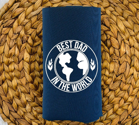 Insulated Can Holder - Best Dad In The World - thegiftkornershop