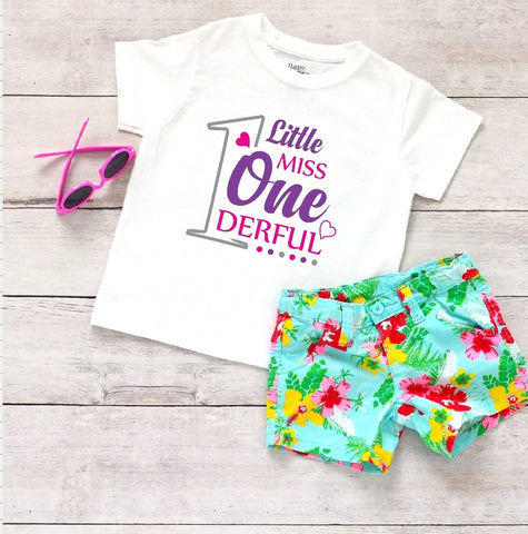 Toddler Softstyle Tee - Little Miss Onederful - thegiftkornershop
