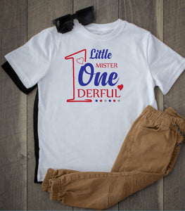 Toddler Softstyle Tee - Little Mister Onederful - thegiftkornershop