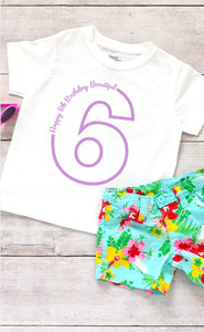 Toddler Softstyle Tee - Happy 6th Birthday Beautiful - thegiftkornershop