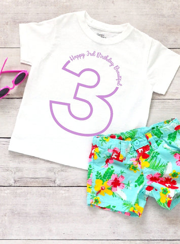 Toddler Softstyle Tee - Happy 3rd Birthday Beautiful - thegiftkornershop