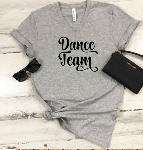 V-Neck T-Shirt - Dance Team - thegiftkornershop