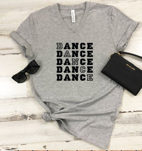 V-Neck T-Shirt - Dance - thegiftkornershop