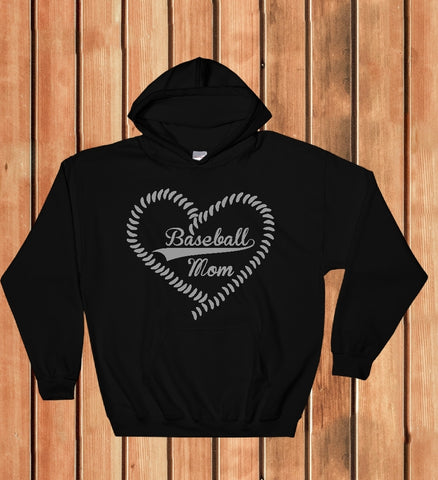 Hooded Sweatshirt - Baseball Mom - thegiftkornershop