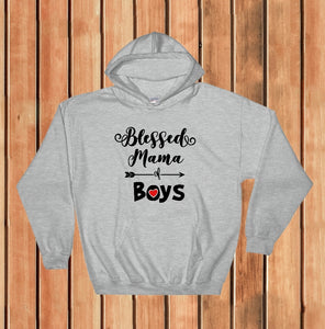 Hooded Sweatshirt - Blessed Mama Of Boys - thegiftkornershop
