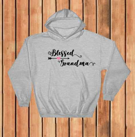 Hooded Sweatshirt - Blessed Grandma - thegiftkornershop