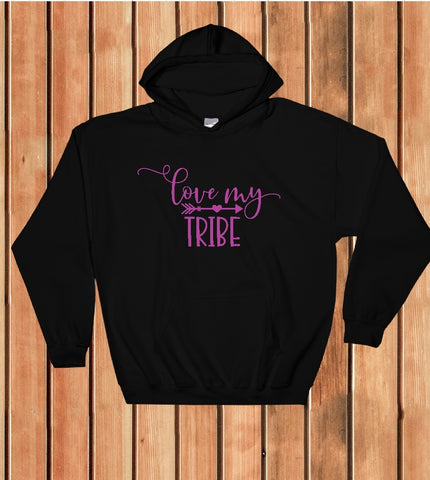 Hooded Sweatshirt - Love My Tribe - thegiftkornershop