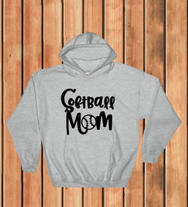 Hooded Sweatshirt - Softball Mom - thegiftkornershop