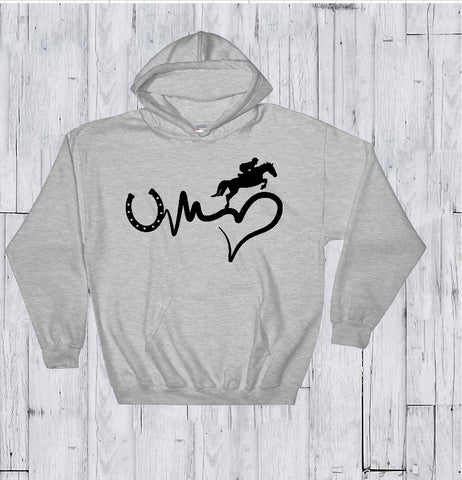 Hooded Sweatshirt - Horse - thegiftkornershop