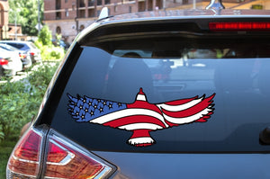 Car Window Decal - United States Flag Eagle - thegiftkornershop