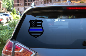 Car Window Decal - Police Badge (Blue Lives Matter) - thegiftkornershop