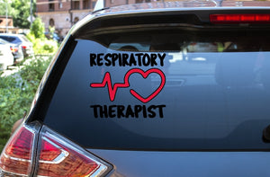 Car Window Decal - Respiratory Therapist - thegiftkornershop