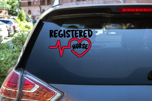 Car Window Decal - Registered Nurse - thegiftkornershop